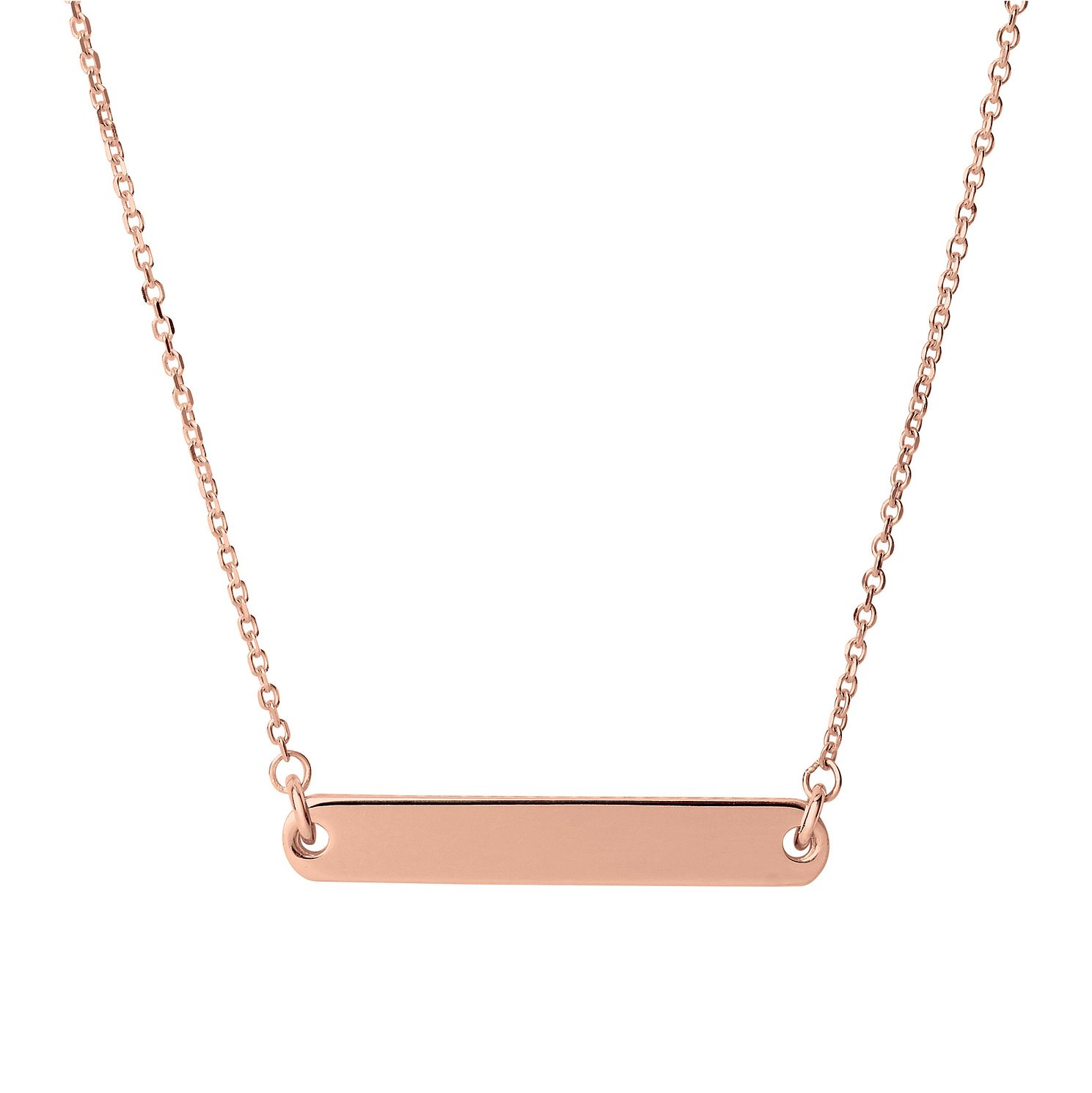 Links Of London Narrative Rose Gold Tone Short Bar Necklace - Product number 1074415