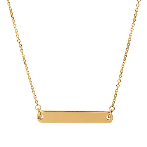 Links of London Narrative Gold Tone Short Bar Necklace - Product number 1074423