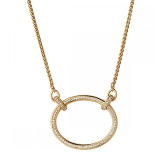 Links of London Gold Plated White Topaz Oval Necklace - Product number 1074431