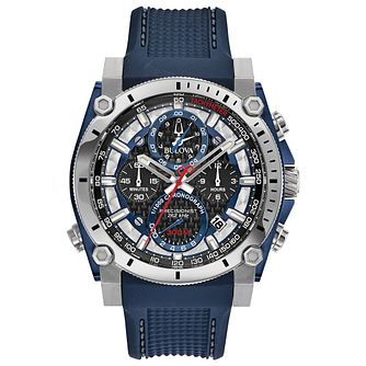 Bulova Men's Stainless Steel Precisionist Blue Strap Watch - Product number 1074660