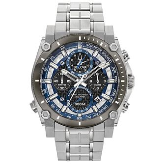 Bulova Precision Men's Stainless Steel Bracelet Watch - Product number 1074679