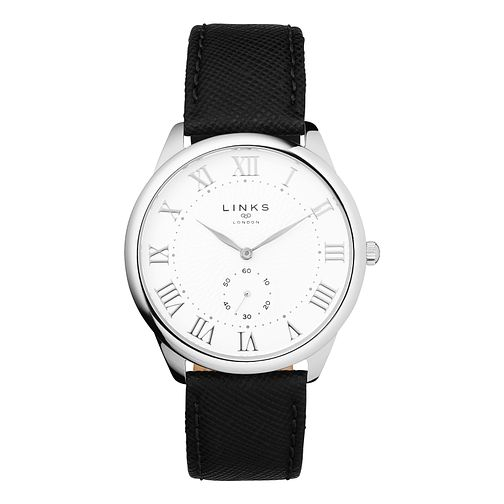 Links of London Narrative Men's Black Strap Watch - Product number 1074725