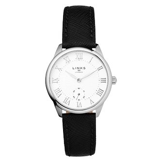 Links Of London Narrative Ladies' Black Leather Strap Watch - Product number 1074768