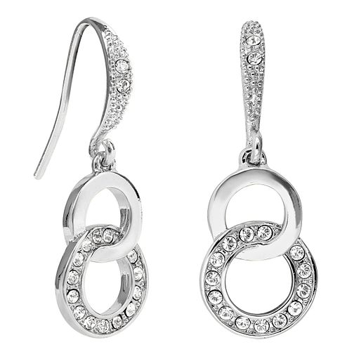 Adore Ladies' Rhodium Plated Kelso Ring Drop Earrings - Product number 1074989