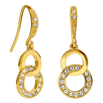 Adore Ladies' Yellow Gold Plated Kelso Ring Drop Earrings - Product number 1074997