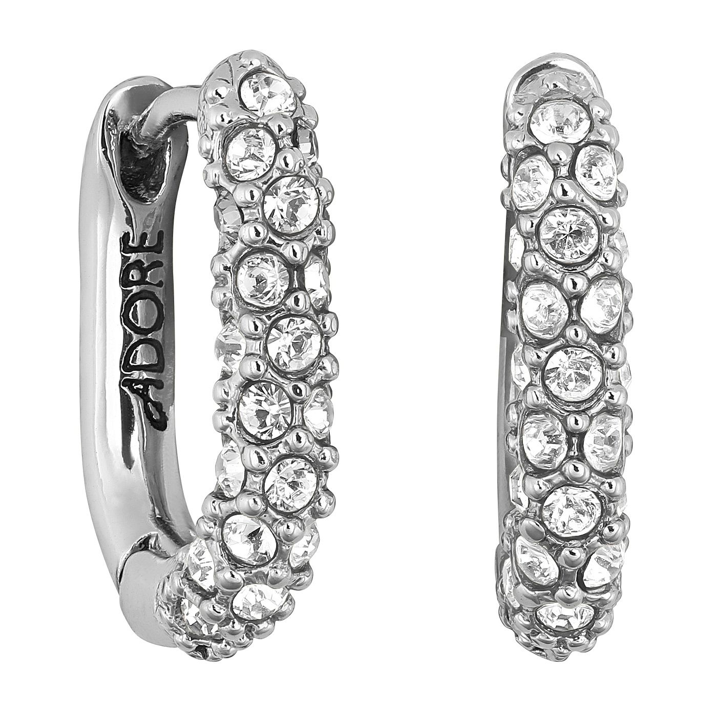 Adore Ladies' Lozenge Pave Hoop Earrings - Product number 1075063