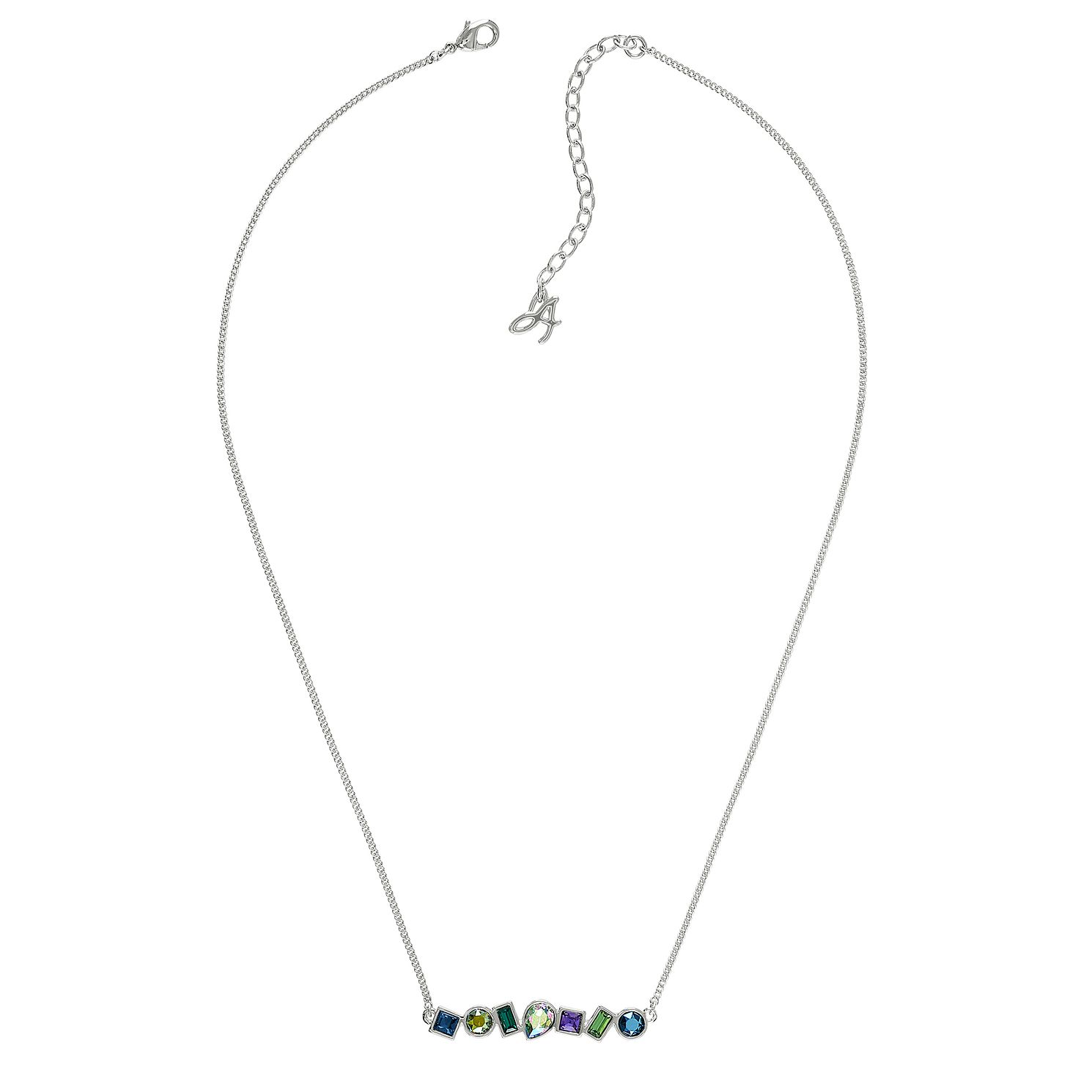 Adore Ladies' Mixed Crystal Multi Blue Drop Necklace - Product number 1075098