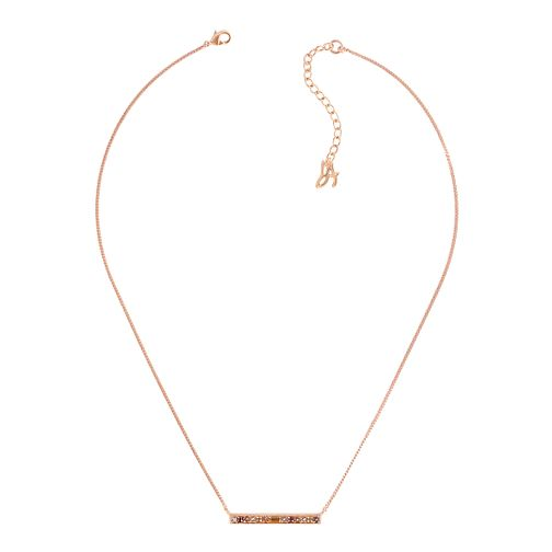 Adore Ladies' Baguette Bar Rose Gold Plated Necklace - Product number 1075276