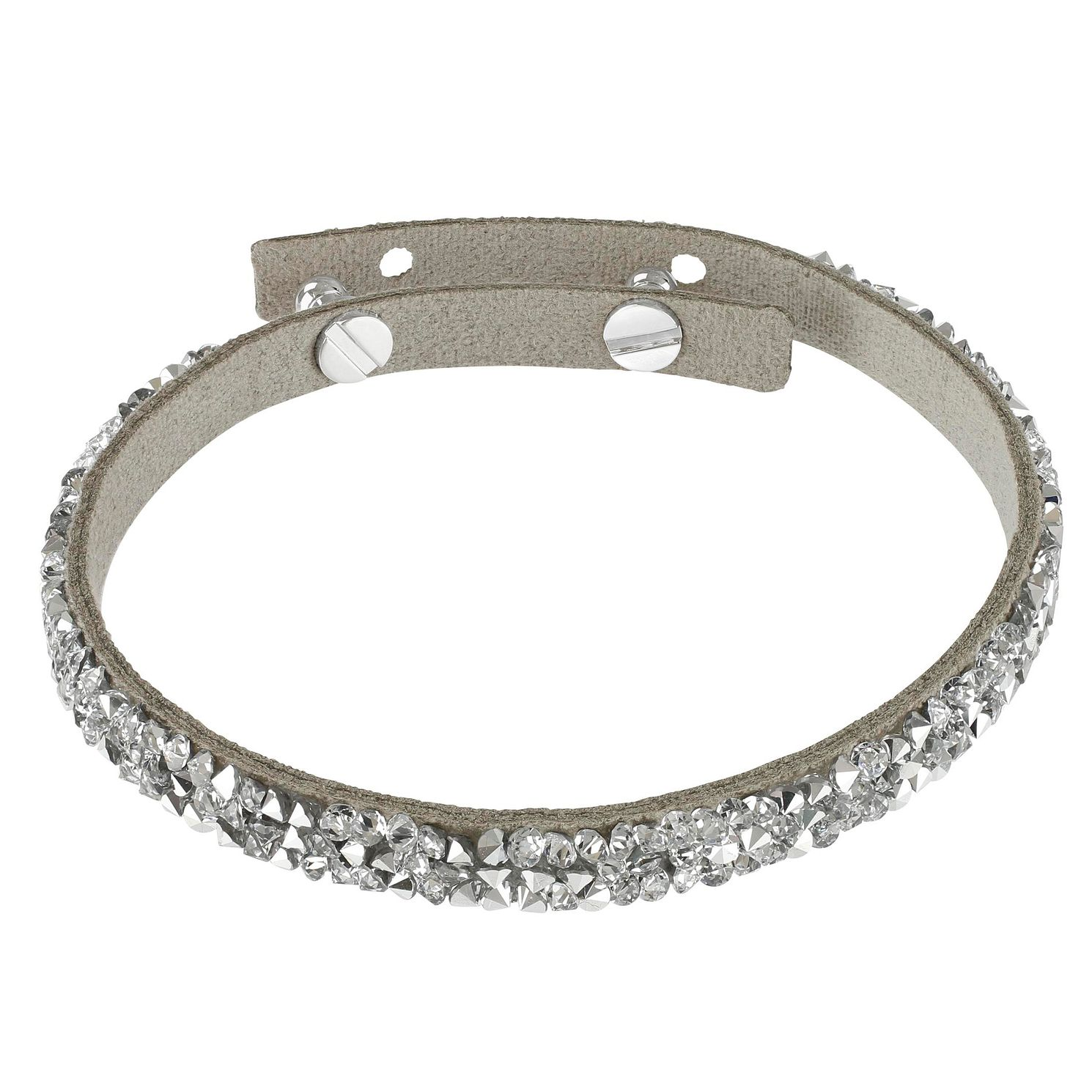 Adore Ladies' Leather Rock Light Grey Bracelet - Product number 1075292