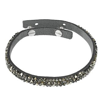 Adore Ladies' Leather Rock Dark Grey Bracelet - Product number 1075306