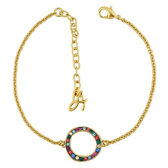 Adore Ladies' Yellow Gold Plated Organic Circle Bracelet - Product number 1075381