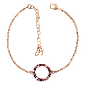 Adore Ladies' Rose Gold Plated Organic Circle Bracelet - Product number 1075403