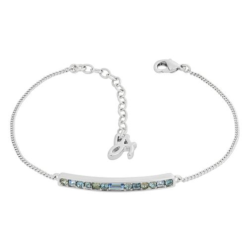 Adore Ladies' Rhodium Baguette & Round Bar Bracelet - Product number 1075411