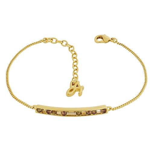 Adore Ladies' Gold Plated Baguette & Round Bar Bracelet - Product number 1075438