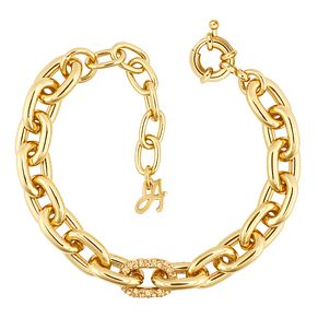 Adore Ladies' Yellow Gold Plated Lozenge Bracelet - Product number 1075454