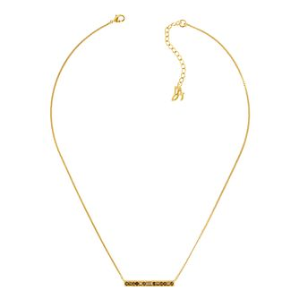 Adore Ladies' Baguette Bar Yellow Gold Plated Necklace - Product number 1075462