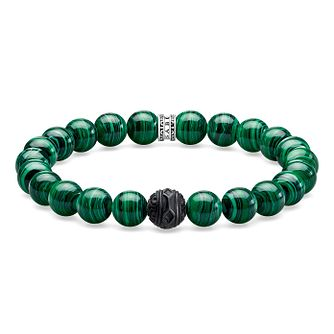 Thomas Sabo Men's Rebel At Heart Green Beaded Bracelet - Product number 1075683