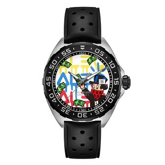 TAG Heuer Formula 1 Alec Monopoly Men's Black Strap Watch - Product number 1075756