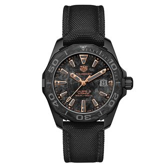 TAG Heuer Aquaracer Men's Black Fabric Strap Watch - Product number 1075780