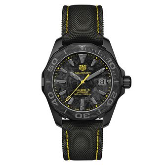 TAG Heuer Aquaracer Carbon Series Black Fabric Strap Watch - Product number 1075799