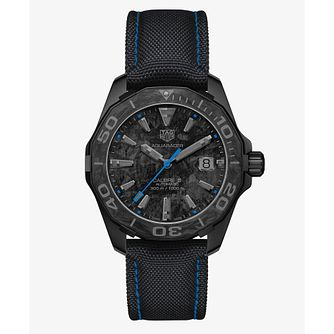 TAG Heuer Aquaracer Carbon Series Black Fabric Strap Watch - Product number 1075802