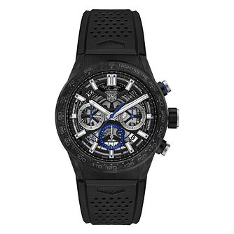 TAG Heuer Carrera Men's Black Rubber Strap Watch - Product number 1075810