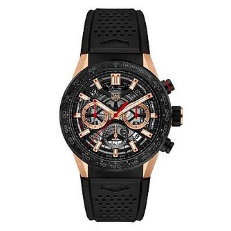 TAG Heuer Carrera Men's Black Rubber  Strap Watch - Product number 1075829