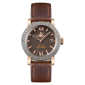 Vivienne Westwood Kingsgate Men's Two-Tone Brown Strap Watch - Product number 1075950