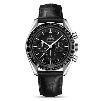 Omega Speedmaster Men's Black Leather Strap Watch - Product number 1077198