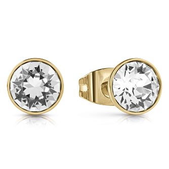 Guess Gold Plated Crystal Studs Earrings - Product number 1082310