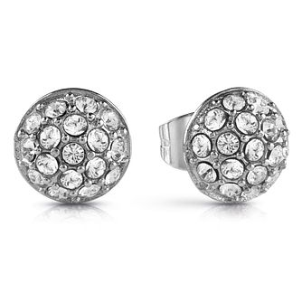 Guess Rhodium Plated Sphere Crystal Stud Earrings - Product number 1082353