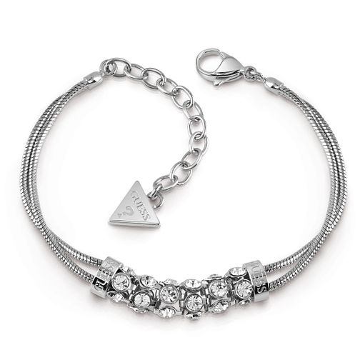 Guess Rhodium Plated Crystal Double Bracelet - Product number 1082655