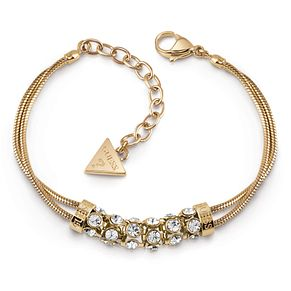 Guess Gold Plated Crystal Double Bracelet - Product number 1082663
