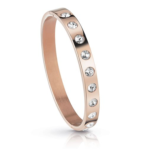Guess Rose Gold Plated Crystal Bangle - Product number 1082779