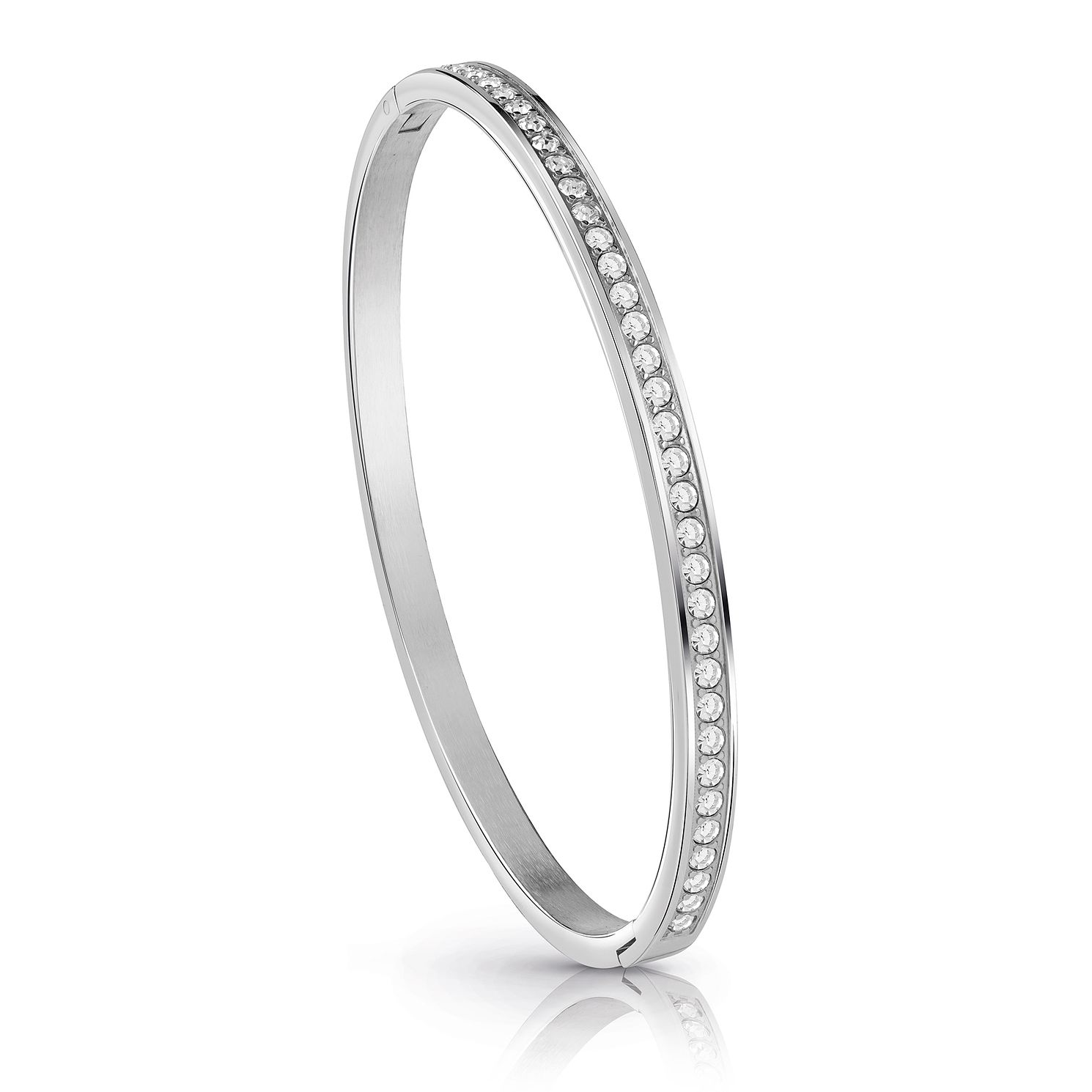 Guess Rhodium Plated Crystal Bangle - Product number 1082825