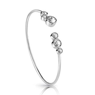 Guess Rhodium Plated Flexi Crystal Bangle - Product number 1082868