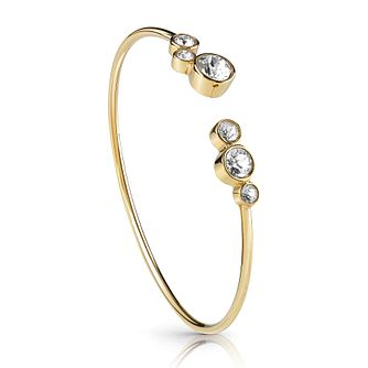 Guess Gold Plated Flexi Crystal Bangle - Product number 1082876