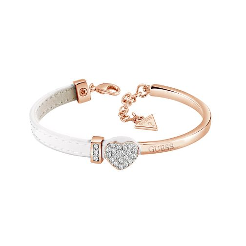 Guess Half White Leather Crystal Bracelet - Product number 1082922