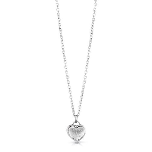 Guess Rhodium Plated Heart Pendant Necklace - Product number 1082973