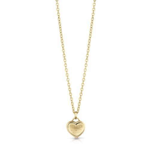 Guess Gold Plated Heart Pendant Necklace - Product number 1082981