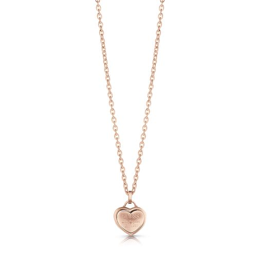Guess Rose Gold Plated Heart Pendant Necklace - Product number 1083007