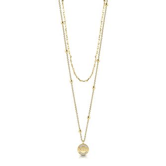Guess Gold Plated 16-20 inches Crystal Coin Pendant - Product number 1083023