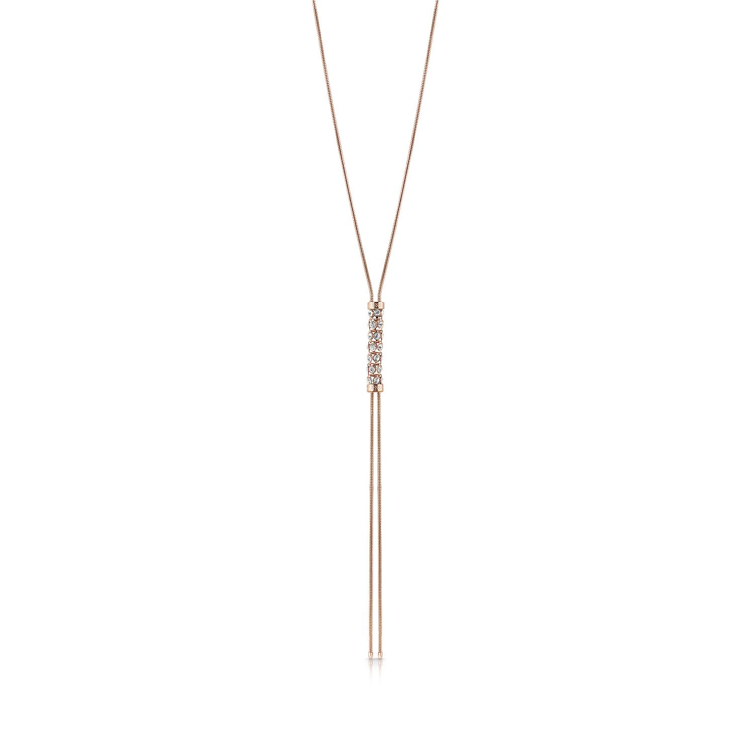 Guess Rose Gold Plated Crystal Coil 16-18 inches Necklace - Product number 1083074