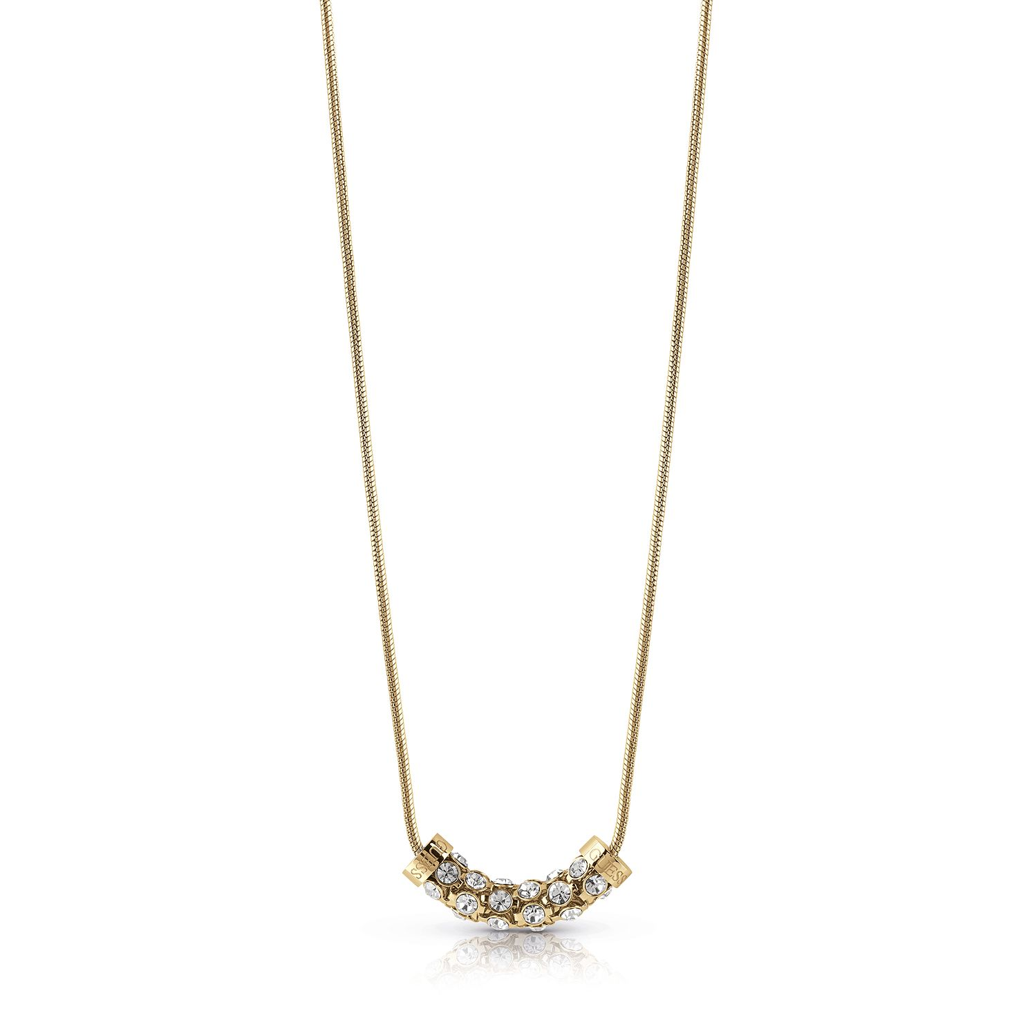 Guess Gold Plated Horizontal Crystal 16-18 inches Necklace - Product number 1083090
