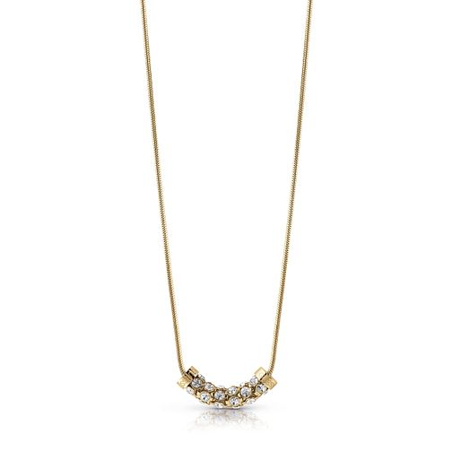 "Guess Gold Plated 16-18"" Horizontal Coil Crystal Necklace - Product number 1083090"