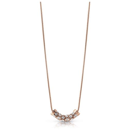 "Guess Rose Gold Plated 16-18"" Crystal Necklace - Product number 1083104"