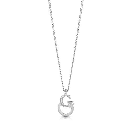 "Guess Rhodium Plated 16-18"" G-handcuff Crystal Pendant - Product number 1083120"