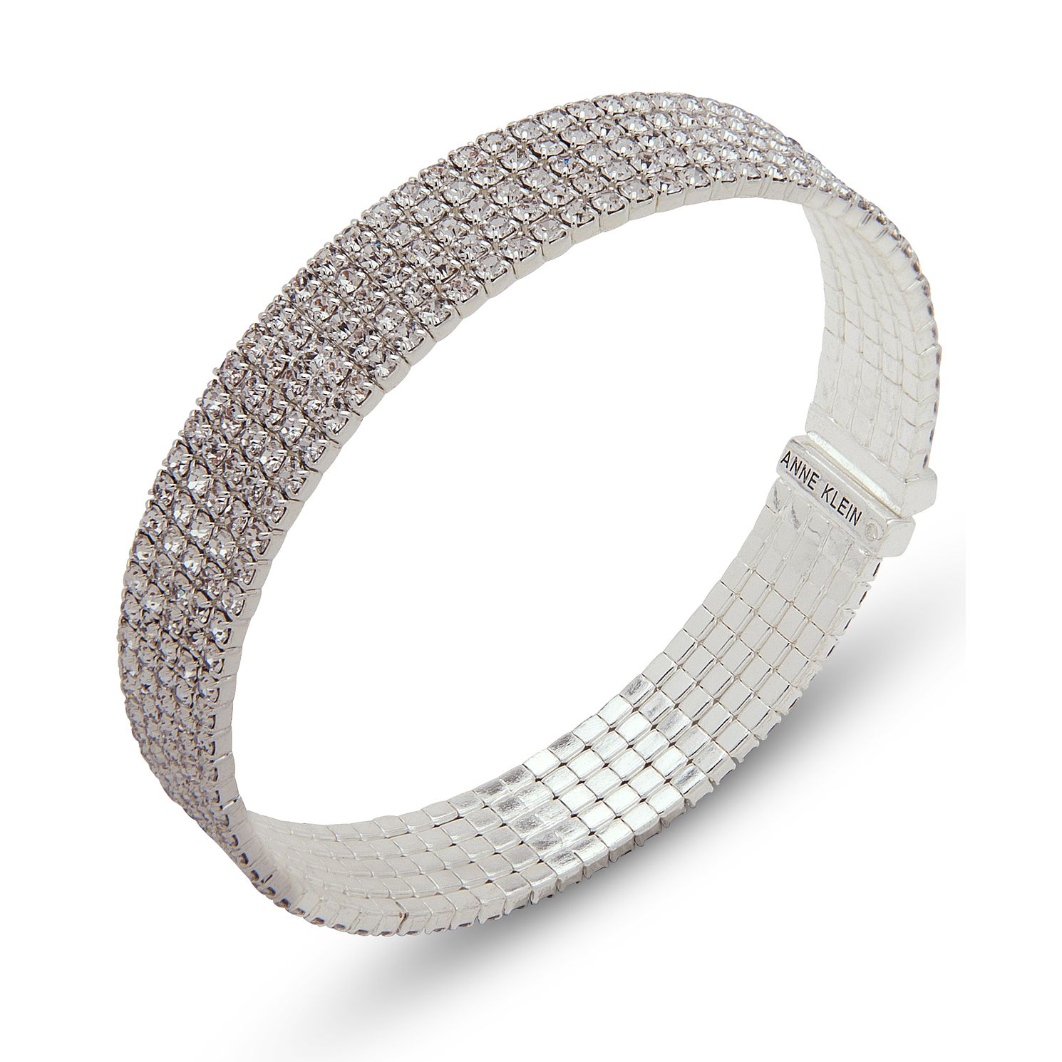 Annie Klein Silver Crystal Pave Cuff Bracelet - Product number 1083309