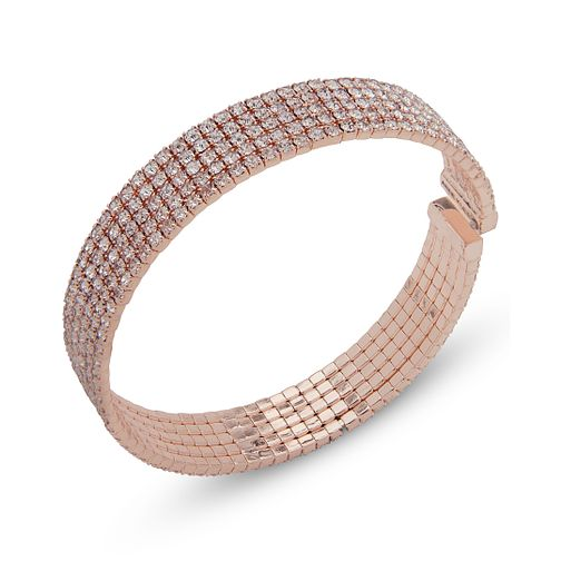 Annie Klein Rose Gold Tone Crystal Pave Cuff Bracelet - Product number 1083317