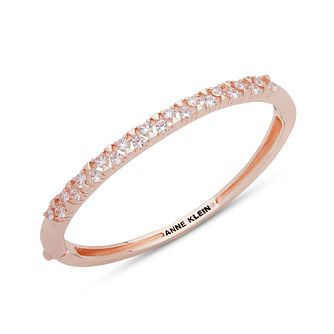 Anne Klein Arm Candy Crystal Rose Gold Tone Bangle - Product number 1083325